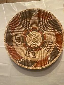Hand Woven SouthWestern shallow bowl Baskets, approx. 13in W