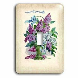 3dRose lsp_80237_1 Beautiful Vintage French Basket of Lilacs