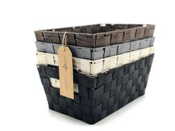 Woven Strap Multi Color Baskets  by Handcrafted 4 Home